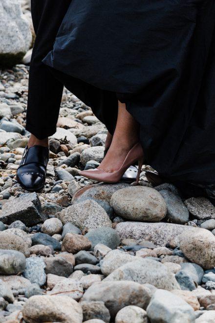 Pre-wedding photo of a couple's feet