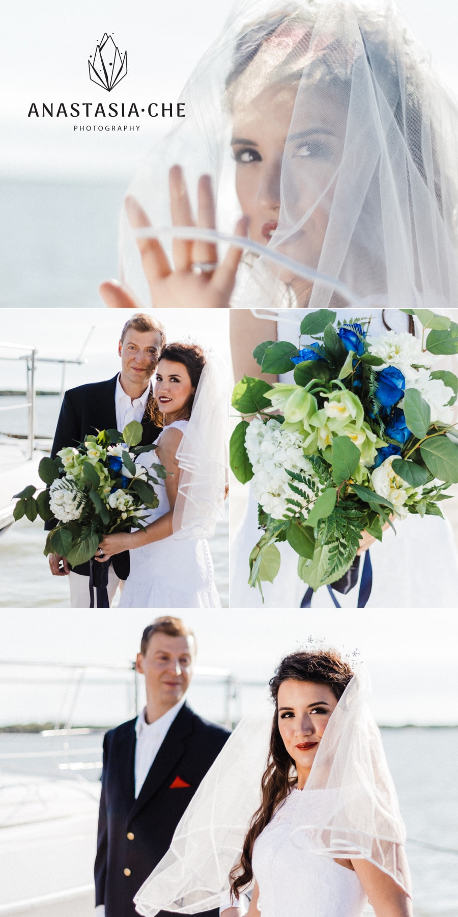 Styled nautical wedding in Vancouver