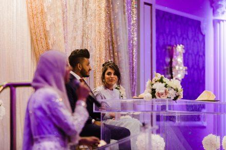 Wedding reception, guests' speeches