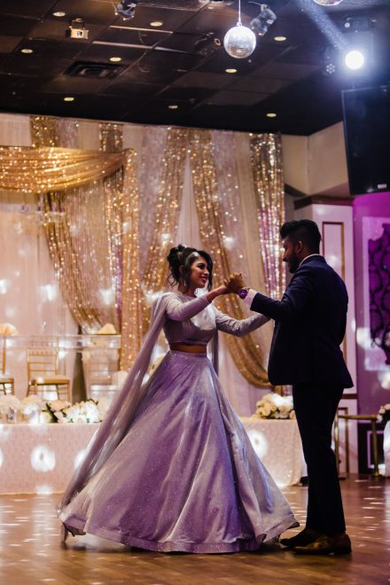 First dance of the mr and mrs, flowing dress
