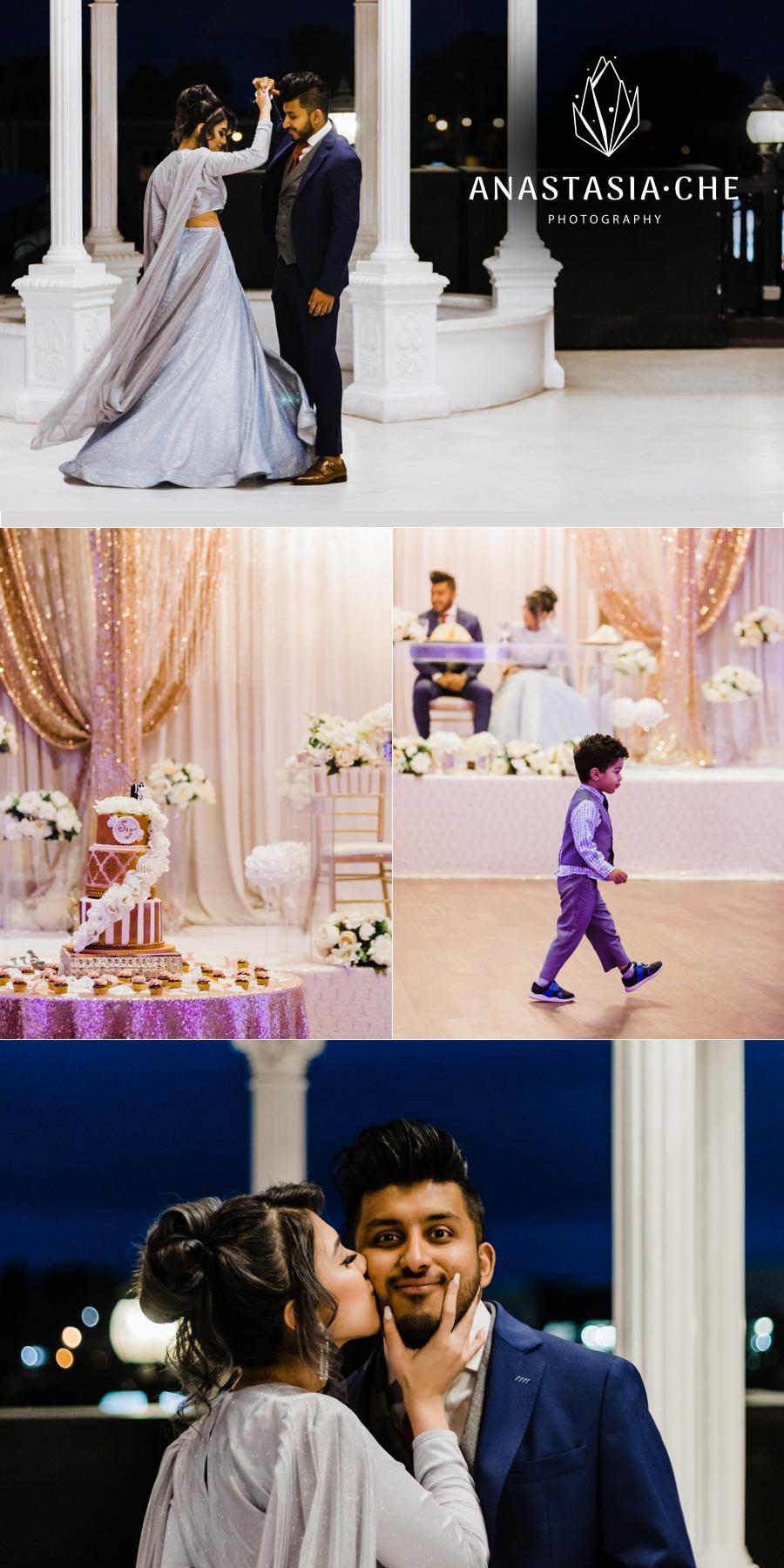 Indian wedding reception photos in Vancouver, BC