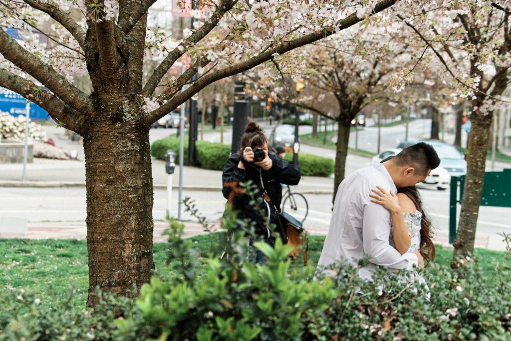 Vancouver wedding photographer backstage